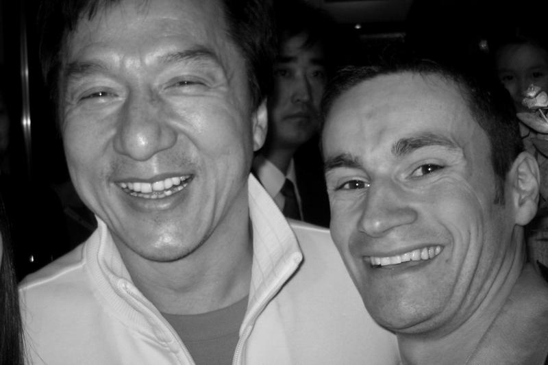 Avec Jackie Chan, photo prise à Pékin