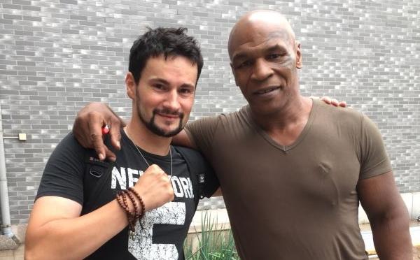 Pierre Bourdaud et Mike Tyson