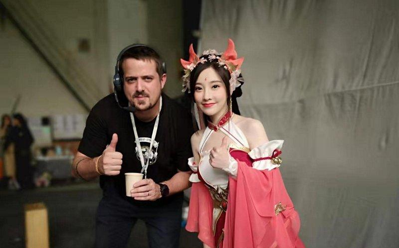 Sur un tournage en Chine