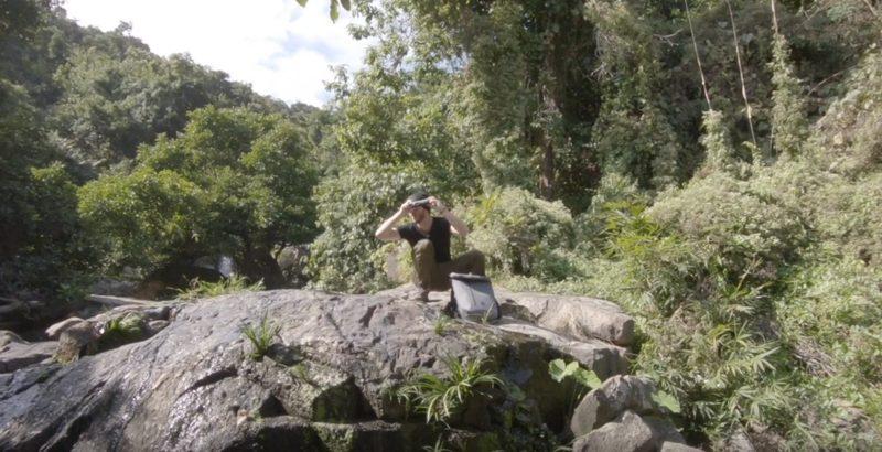 Pierre Biret en tournage à Hong-Kong