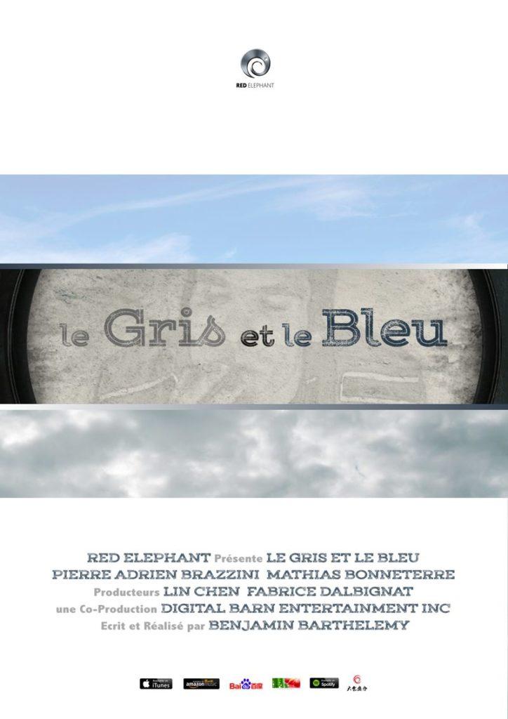 """Affiche du court métrage d'animation """"le GRIS et le BLEU"""""""